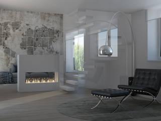 Progettazione di interni Villa Casciago Silvana Barbato Soggiorno moderno
