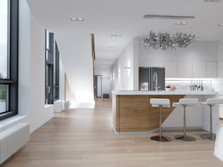 Проект дома 400 м.кв.: Гостиная в . Автор – 'Квартира номер 17'