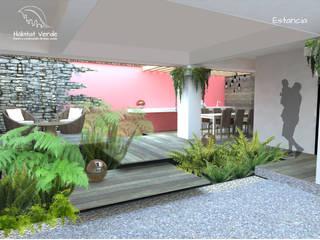 TERRAZA GRUTA Balcones y terrazas modernos de HÁBITAT VERDE PAISAJISMO Moderno