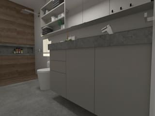 Modern Bathroom by Julia Pinheiro Interiores Modern