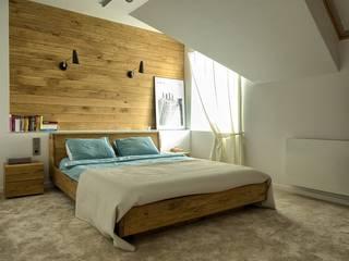 Moderne Schlafzimmer von Grzegorz Popiołek Projektowanie Wnętrz Modern