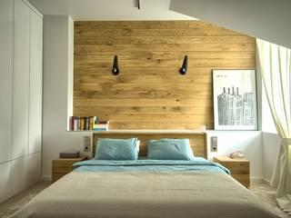 Schlafzimmer von Grzegorz Popiołek Projektowanie Wnętrz