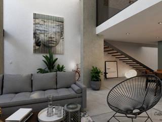 Living room by Citlali Villarreal Interiorismo & Diseño, Industrial