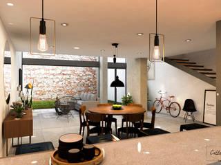 Escaleras de estilo  de Citlali Villarreal Interiorismo & Diseño