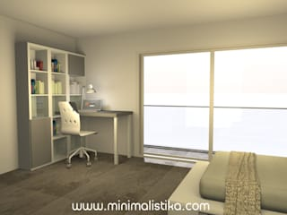Minimalistika.com Teen bedroom Chipboard White