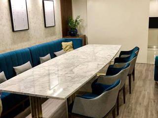 São Félix da Marinha Salas de jantar ecléticas por Designer's Mint Studio Eclético