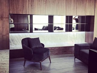 São Félix da Marinha Salas de estar ecléticas por Designer's Mint Studio Eclético