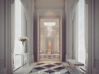 Regal Design Ideas for Palace Hallway IONS DESIGN Classic style corridor, hallway and stairs Marble Multicolored