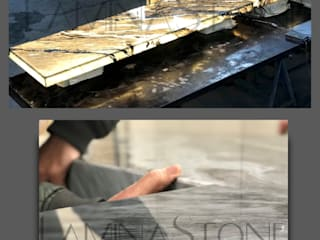 LAMINA STONE ® BACKLIT PANEL Modern Mutfak Lamına Stone Modern