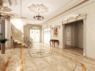 Классика Коридор, прихожая и лестница в классическом стиле от Дизайнер Темненко Ольга Классический