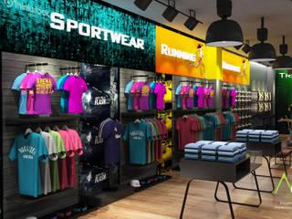 Tienda Deportiva CC Paque Cerro Verde Oficinas de estilo moderno de Proyectos C&H C.A Moderno