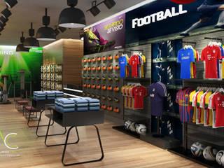 Tienda Deportiva CC Paque Cerro Verde de Proyectos C&H C.A Moderno