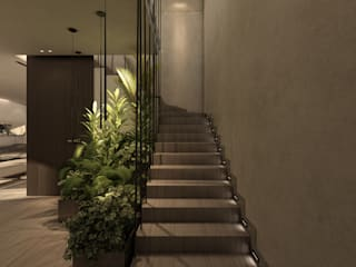 KG - Eastown Modern Corridor, Hallway and Staircase by STUDIO PARADIGM Modern
