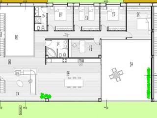 Planta do piso de habitação: Cozinhas  por Reprojeta