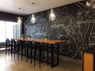 COFFEE STAR Gastronomía de estilo industrial de INTERIOR 41 Industrial