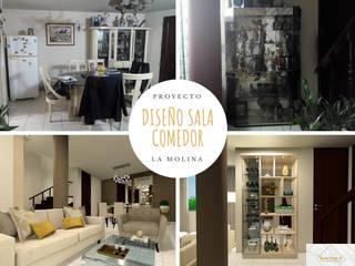 Remodelación Sala Comedor: Comedores de estilo  por Lucero Pardo M. - Diseñadora de Interiores