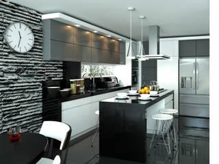 Cocinas de estilo  de Taller 3M Arquitectura & Construcción, Ecléctico Cerámico