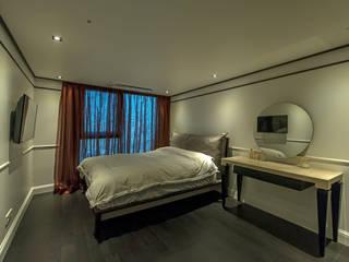 삼성동 쌍용 플래티넘 아파트 모던스타일 벽지 & 바닥 by 모노웍스 모던