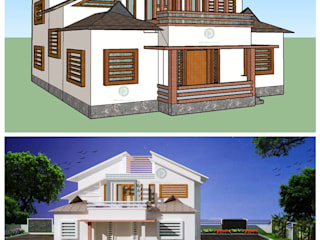 Top Construction Companies in Thrissur Asian style doors by Prithvi Homes Asian