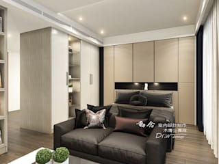 臥室 木博士團隊/動念室內設計制作 Modern style bedroom Wood-Plastic Composite Wood effect