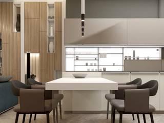 Salas / recibidores de estilo  por Проектно-строительная компания УралДеко, Minimalista