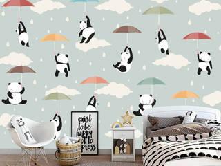 Çocuk odası 3 boyutlu duvar kağıtları Duvarkapla.com İskandinav