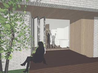 문호리 단층주택: 위즈스케일디자인의 현대 ,모던