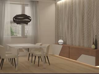Progettazione d'interni Appartamento a Varese Silvana Barbato Sala da pranzo moderna
