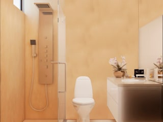 Scandinavian style bathroom by STUDIO ZINKIN Scandinavian