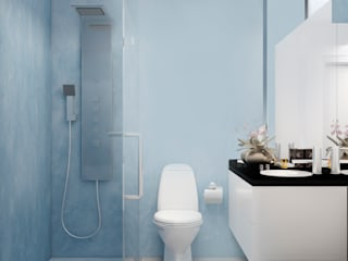 Eclectic style bathroom by STUDIO ZINKIN Eclectic