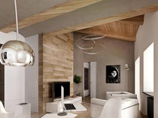 WoodSticks Soggiorno moderno di BAAG atelier Moderno