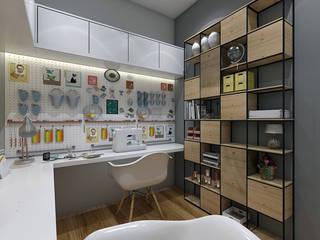 Atelier de pintura e costura: Escritórios  por Legrand Arquitetura