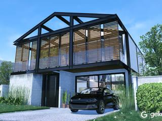 Projeto Casa em Estrutura Metálica | Casa SUEL | RJ: Casas pré-fabricadas  por Gelker Ribeiro Arquitetura | Arquiteto Rio de Janeiro