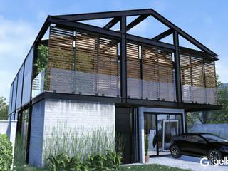 Projeto Casa em Estrutura Metálica | Casa SUEL | RJ: Condomínios  por Gelker Ribeiro Arquitetura | Arquiteto Rio de Janeiro