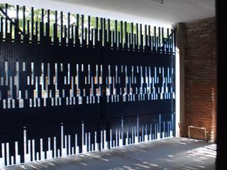 Moctezuma Arquitecto Front doors Metal Blue