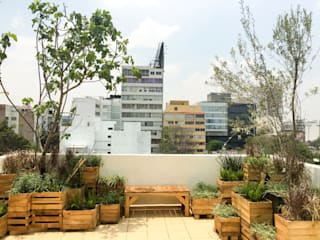 Boceto Arquitectos Paisajistas Modern terrace Wood