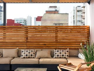 Boceto Arquitectos Paisajistas Modern style balcony, porch & terrace Wood