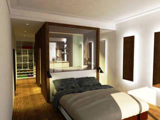 Suite, moradia em Oeiras: Quartos  por Reprojeta