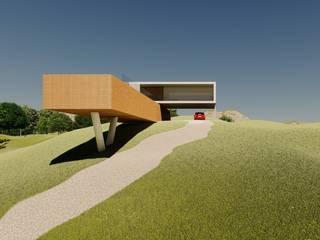 Casa do Alto por Aoki Arquitetura Moderno