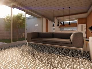 Casa Macedo Salas de estar modernas por Aoki Arquitetura Moderno