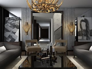 Pasillos, vestíbulos y escaleras de estilo moderno de STUDIO ZINKIN Moderno