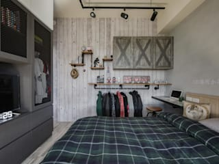 Industrial style bedroom by 澄月室內設計 Industrial