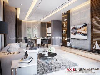 Living area : ออกแบบตกแต่งภายในบ้าน พร้อมรับเหมาครบวงจร (คุณปรีชา) :   by บริษัทแอคซิสลาย จำกัด