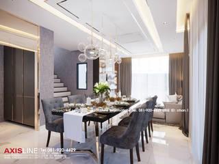 Dining area : ออกแบบตกแต่งภายในบ้าน พร้อมรับเหมาครบวงจร (คุณปรีชา) :   by บริษัทแอคซิสลาย จำกัด