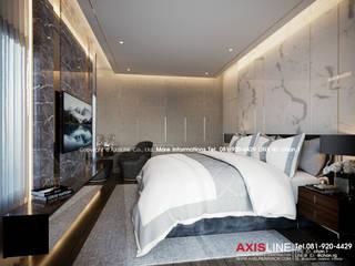 Master bedroom : ออกแบบตกแต่งภายในบ้าน พร้อมรับเหมาครบวงจร (คุณปรีชา) :   by บริษัทแอคซิสลาย จำกัด