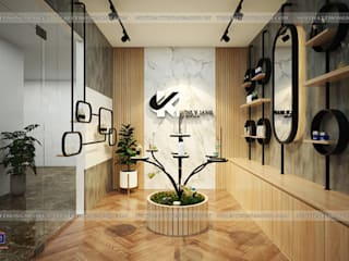 HPRO thi công nội thất gỗ laminate nhà máy mỹ phẩm Kenly Jang tại Quảng Ninh Nội thất Hpro Office spaces & stores Multicolored