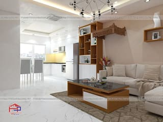 Hoàn thiện tủ bếp acrylic và nội thất gỗ công nghiệp An Cường nhà anh Mai – Việt Trì Nội thất Hpro Living roomSofas & armchairs Multicolored