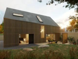 Zwei Seiten unter einem Dach:  Einfamilienhaus von cy architecture