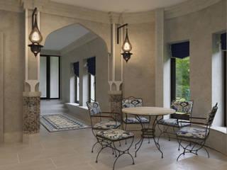 アジアスタイルの プール の GLAZOV design group концептуальная студия дизайна интерьеров 和風