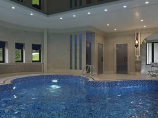 아시아스타일 수영장 by GLAZOV design group концептуальная студия дизайна интерьеров 한옥